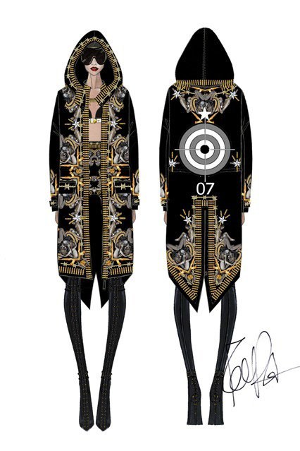 "Les costumes du "" Diamonds World Tour """