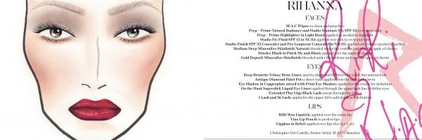"""Les cosmétiques utilisée par Rihanna lors de sa tournée du """" Diamonds World Tour """""""