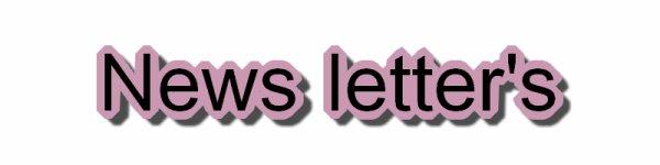 ♥ News Letter's  ♥