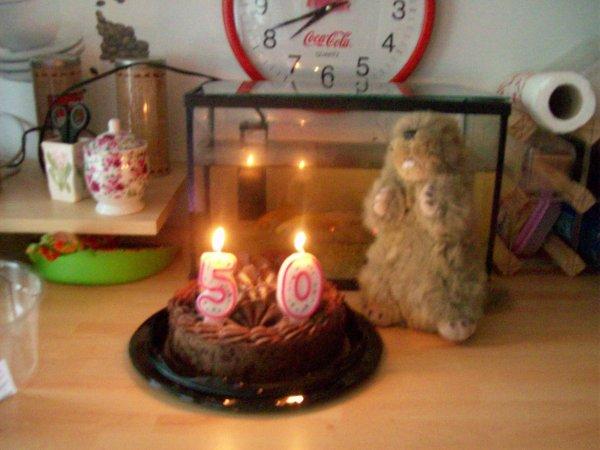 Gâteau d'anniversaire de maman marmotte
