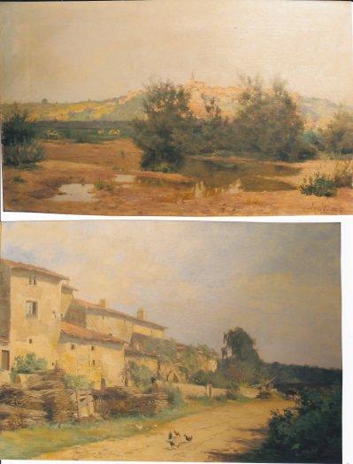 Une peinture représentant Liverdun du peintre L.Quintard:
