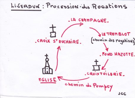 Liverdun:  Le chemin de la Procession ( I I )