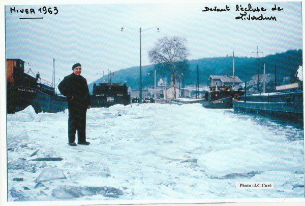 Liverdun : les images d'hier . Les hivers d'antan .