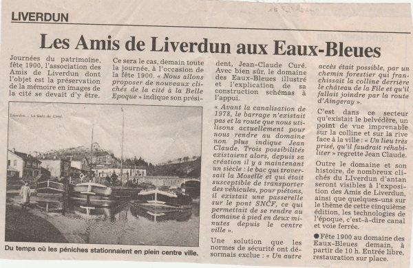 Liverdun : le domaine des Eaux- Bleues .