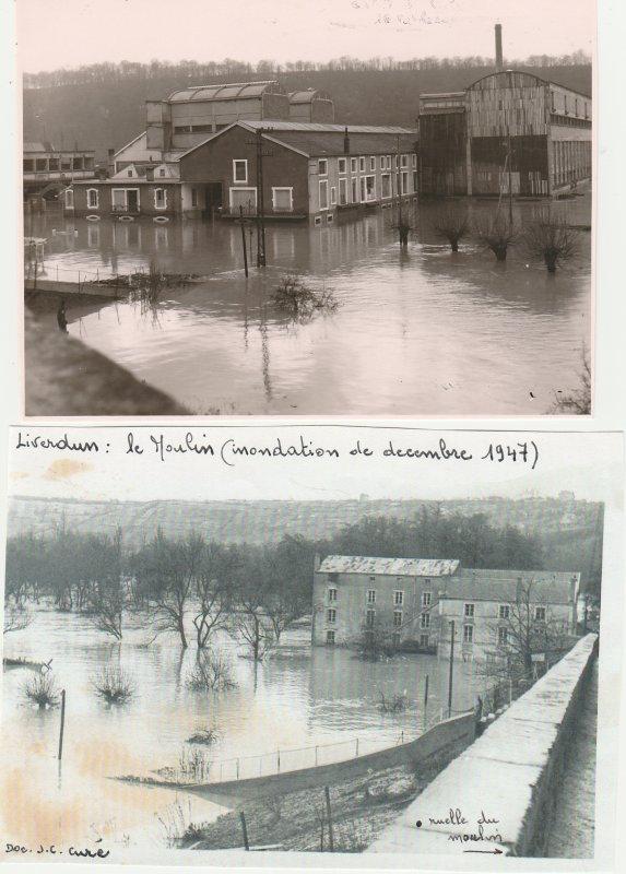 Liverdun : C'était  la Moselle en crue .