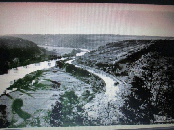 Liverdun : la future piste cyclable Liverdun - Villey St Etienne .