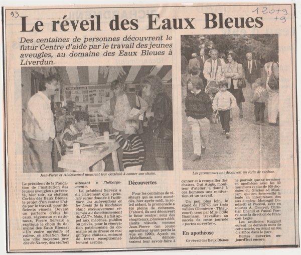 Liverdun : le Domaine des Eaux Bleues . ( I I I )