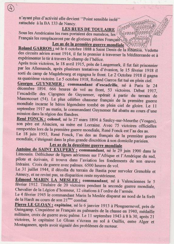 Liverdun : l'histoire de TOULAIRE ...et de la base de Rosières .( I I ) .