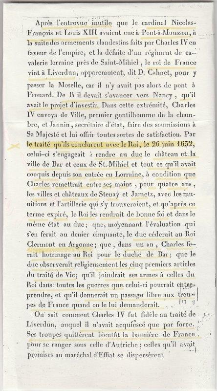 Le traité de Liverdun .