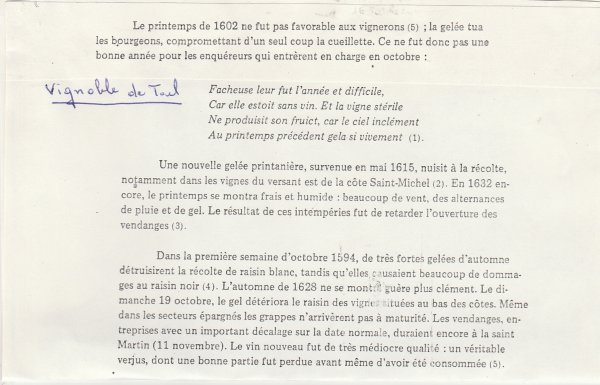 Liverdun : Histoire du climat au 16° et 17° siècle ( I I ) .