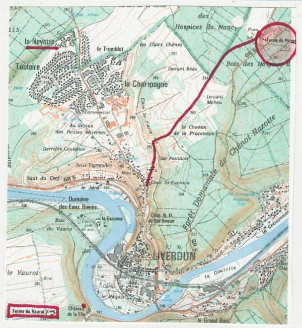 Liverdun : Le chemin de la Procession . ( I )