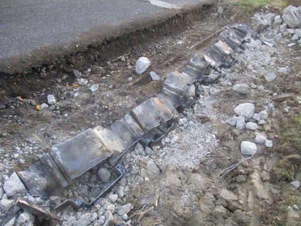 Liverdun :  Aménagement de la route de Villey St Etienne.