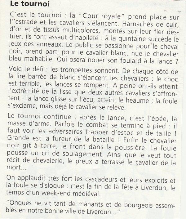 Liverdun : La fête médiévale  ( I ) .