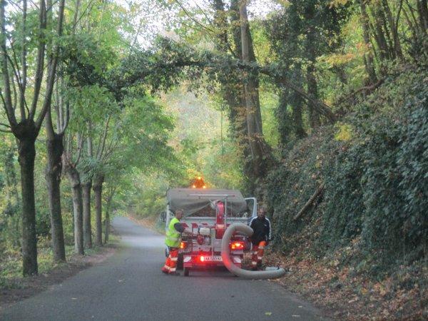Liverdun  : La route du Pisuy .