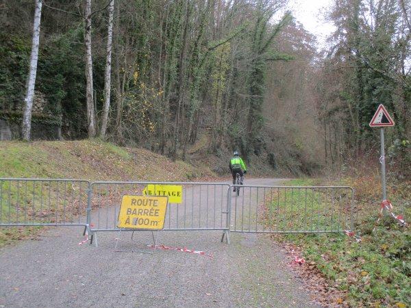 Liverdun : La route du Pisuy ouverte à la circulation .