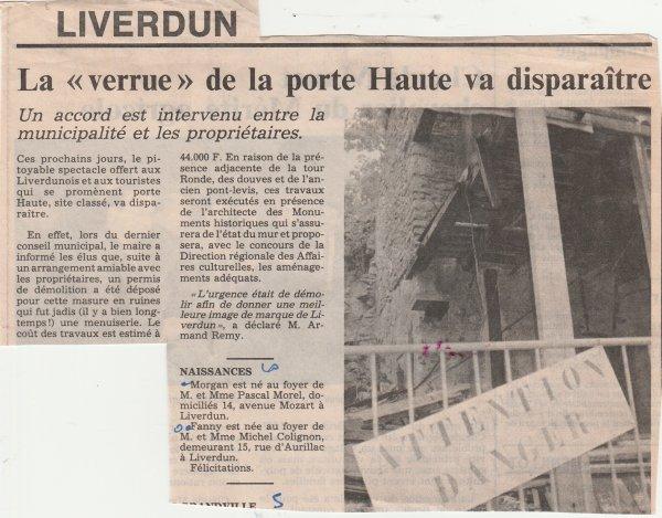 Liverdun : la porte du haut ( I I ) .