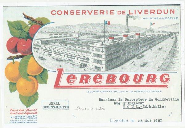 Liverdun : Lerebourg ...Le bateau va larguer ses amarres .