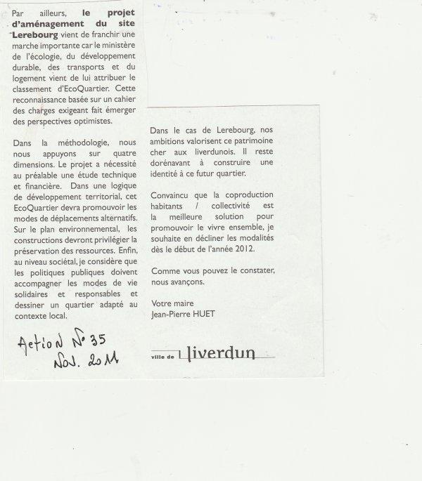 """Liverdun : Les """" perles """" de la réhabilitation Lerebourg . ( I I I )"""