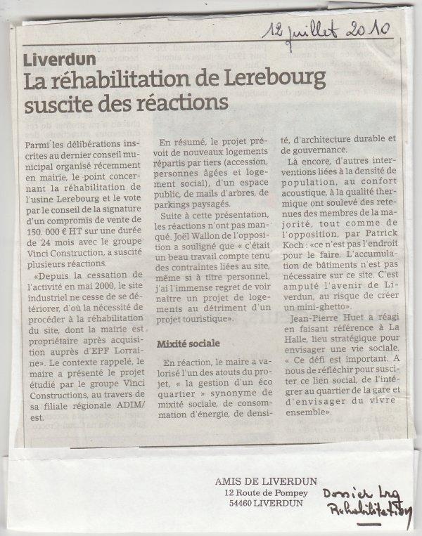 Liverdun : les perles de la réhabilitation Lerebourg . ( IV )