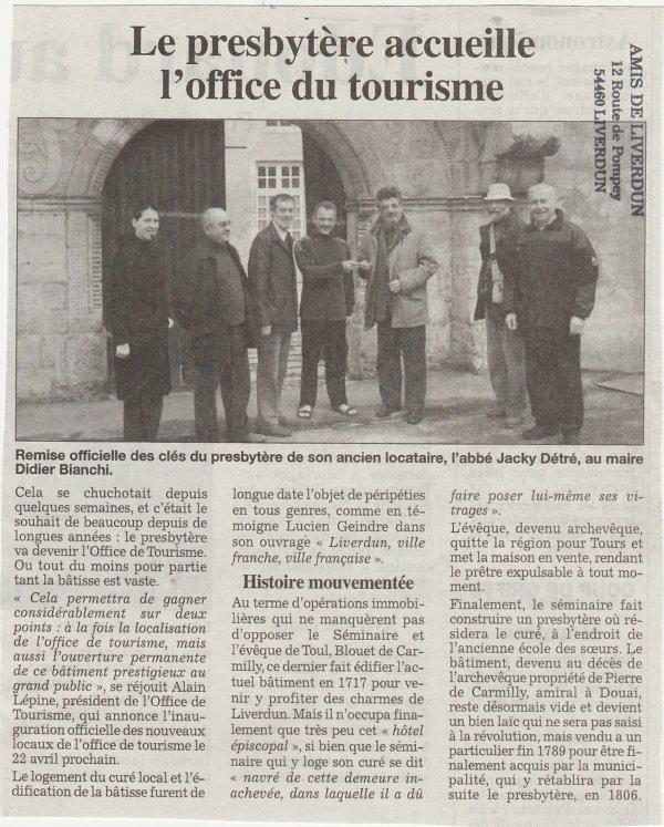 Liverdun : Le Bureau d'Accueil Touristique du Bassin de Pompey .( I )