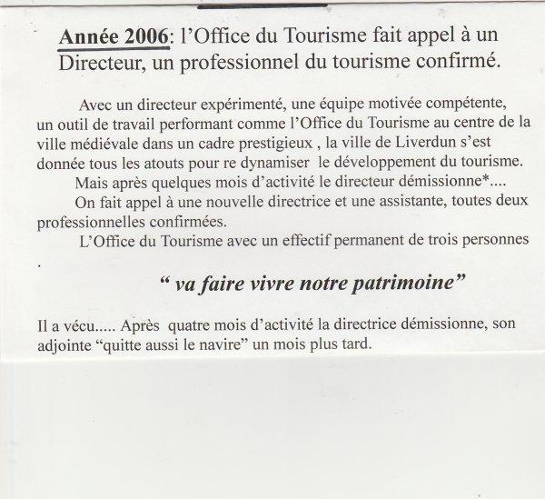 """Liverdun : L' Office du Tourisme . """" petite histoire"""" ."""