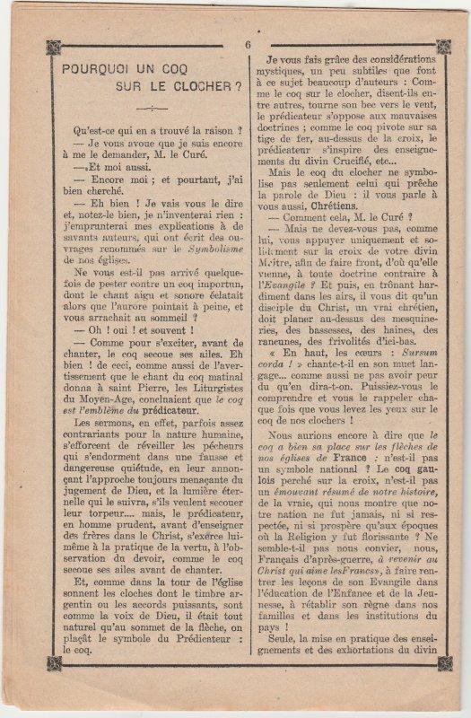Liverdun : histoire d'un coq !