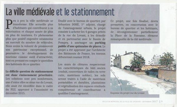 Liverdun :  Création d'un parking .