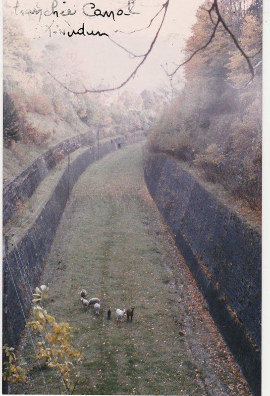 Liverdun : La tranchée et le  tunnel du canal .