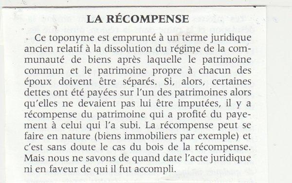 """Liverdun : Chemin """" des """" récompenses ."""