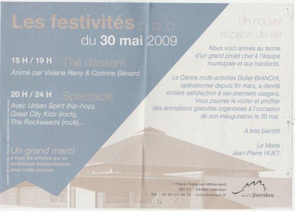 Liverdun  : Histoire de salles ..des fêtes.