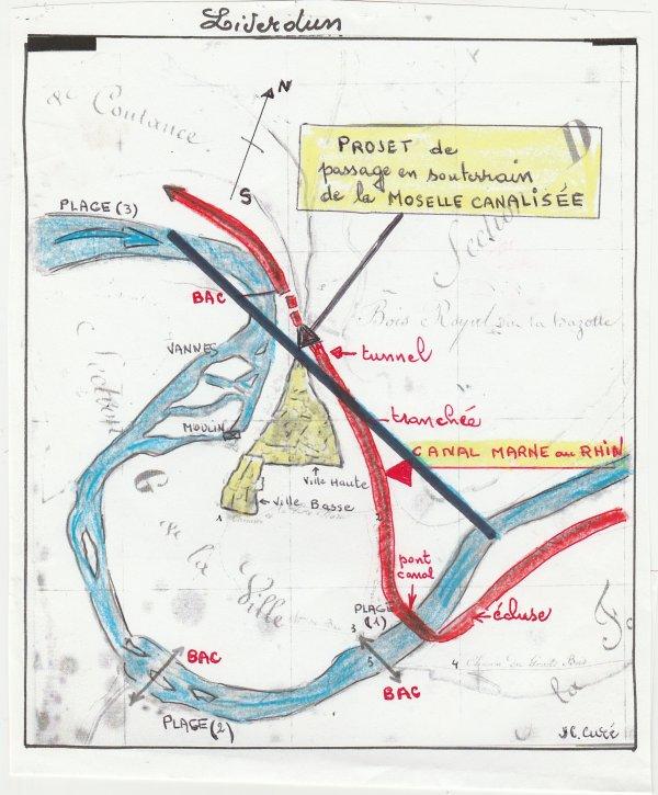 Liverdun : destruction du site  ( I I ).