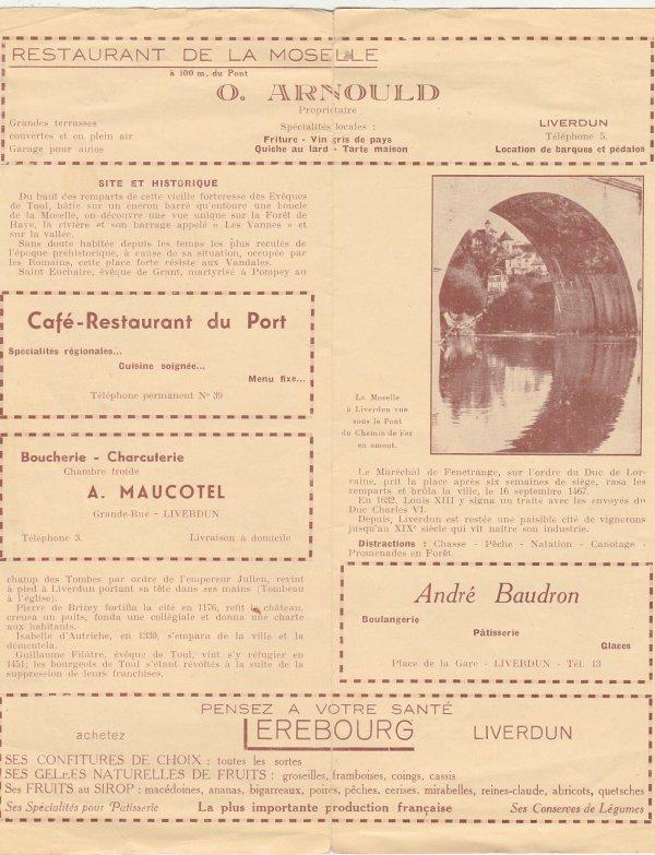 Plan - guide de Liverdun ( I )
