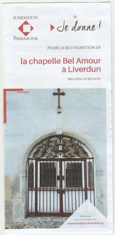 """"""" Je donne ! """" ....pour la restauration de la chapelle ."""