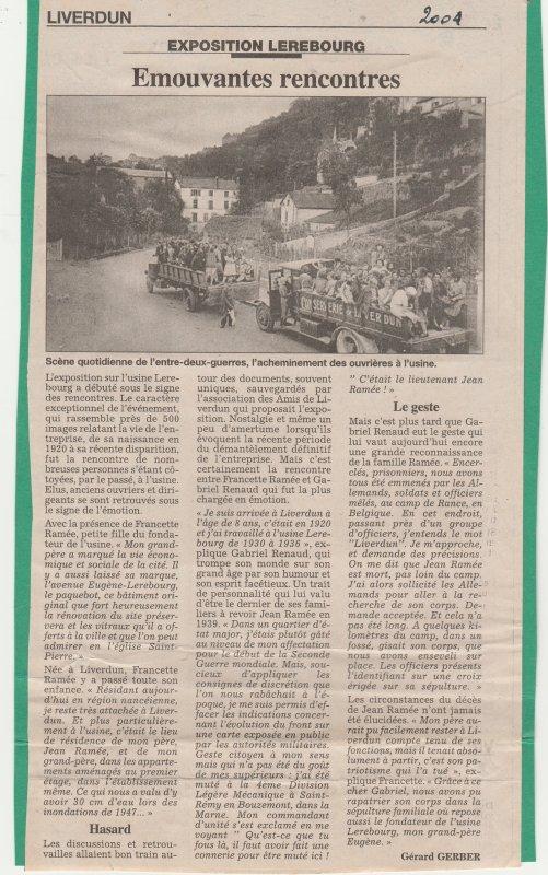 Liverdun : leur histoire . ( V ) .