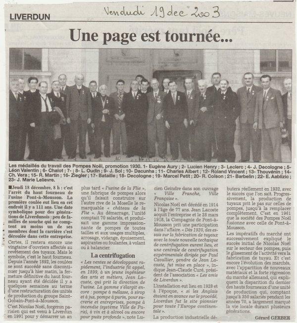 Liverdun : leur histoire ( XI ) .