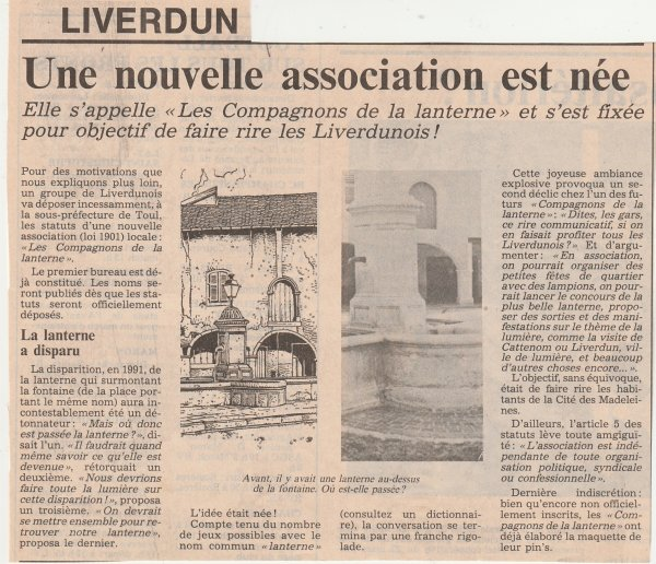 Liverdun : Histoire lumineuse .