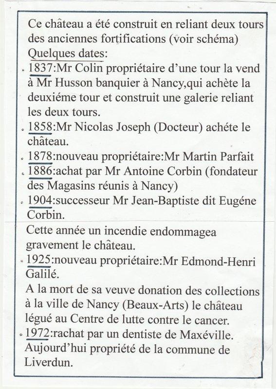 Liverdun : Histoire d'une tourelle ..
