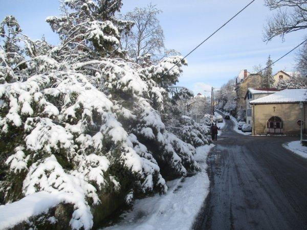 Hivers neigeux d'hier et d'aujourd'hui .