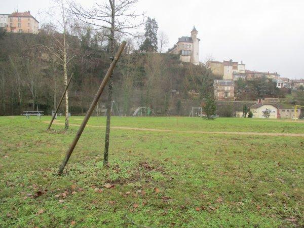 Liverdun : création d'un espace paysager .