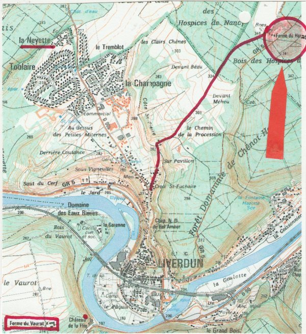 Liverdun : voie romaine .