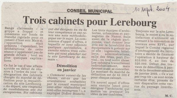Site Lerebourg  : requalification /réhabilitation .