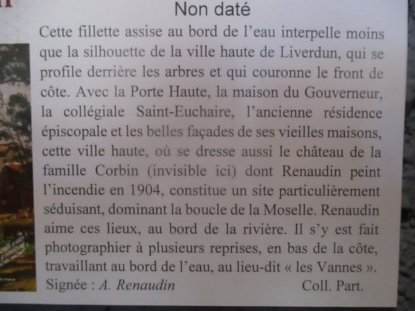 Alfred Renaudin : immortalise le site liverdunois . ( I ) .