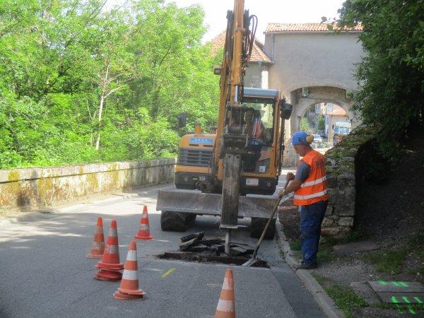 Liverdun : travaux dans village .