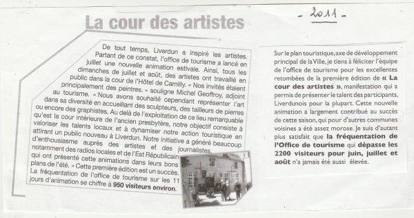 La cour des artistes  - année 2021 .