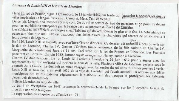 Liverdun :  Epargné de la destruction .