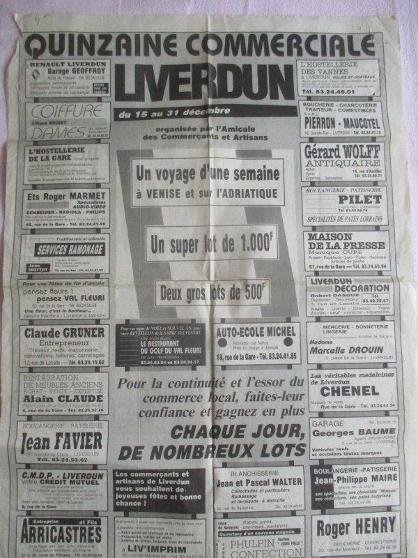 Liverdun : vide grenier ...de la fête de la madeleine .
