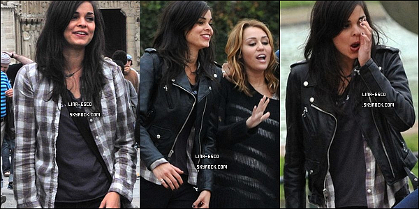 * __Tournage : LOL: Laughing Out Loud * 06/09/2010 : Lina, en compagnie de Miley Cyrus & Ashley Greene sur le tournage de LOL à Paris ! *