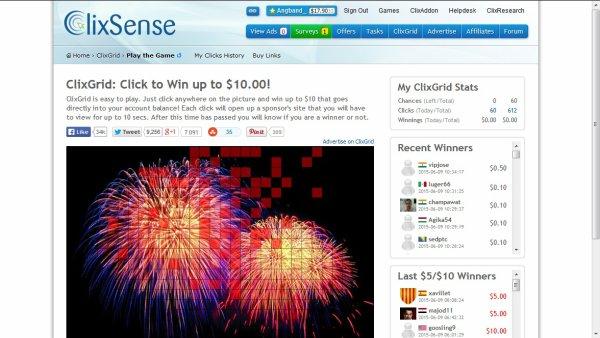 Clixsense : Gagner de l'argent en cliquant sur des pubs, en faisant des sondages et plus