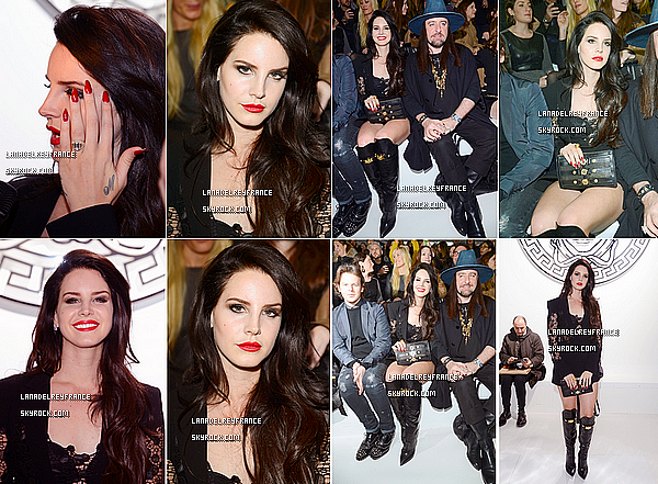 Candid de Lana, se baladant à Londres. + Lana élue artiste féminine internationale de l'année aux BRIT Awards.  + Candid de Lana au défilé de Versace (Milan Fashion Week).
