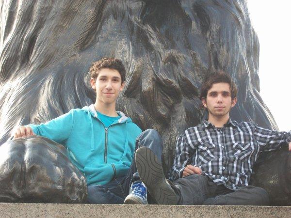 Mon frère et moi.